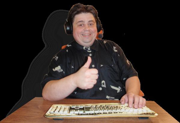 Miloslav Látal u stolu
